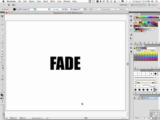 Fading Text Animation - Adobe Illustrator CS5 [Video]