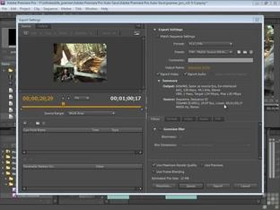 Flash, Quicktime And Windows Media - Adobe Premiere Pro CS5