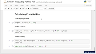 Calculating Portfolio Risk - Python for Finance: Investment