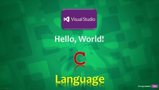 Using Visual Studio IDE to write our first C Program - Learn
