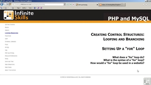 Setting Up A for Loop - PHP and MySQL [Video]