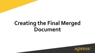 Creating the Final Merged Document - Beginning Data Merge