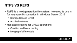 Understanding The Differences Between NTFS And ReFS - Installation
