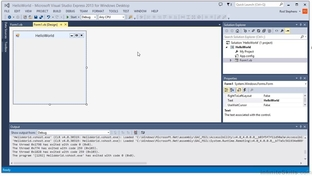 IDE Tour - Learning Visual Basic  NET [Video]