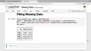 Filling Missing Data - Analyzing Data Using Spark 2 0