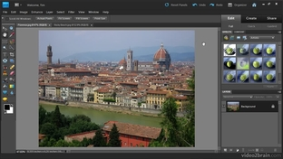 Automatic Crop and Straighten - Adobe Photoshop Elements 9