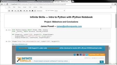 Slideshow And Examples Outline   Learning Path: Python for