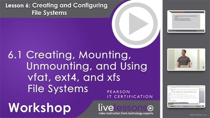 6 1 Creating, Mounting, Unmounting, and Using vfat, ext4, and xfs