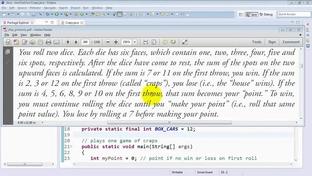 Craps class simulates the dice game craps - Java 8 and 9