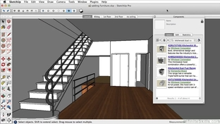 Using the 3D Warehouse - Learning SketchUp Pro 2014 [Video]