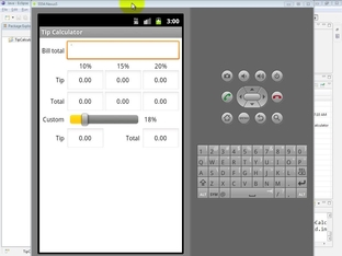 Importing the Tip Calculator app into Eclipse and test