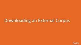 Downloading an External Corpus - Text Processing using NLTK in
