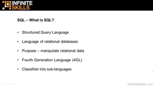 What Is SQL? - Learning Oracle 12c [Video]