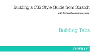 Building Tabs - Building a CSS Style Guide from Scratch [Video]