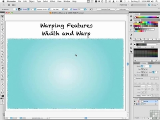 Working With The Width And Warp Tools - Adobe Illustrator CS5 [Video]