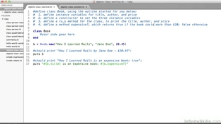 Objects And Classes - Exercise Review - Learning Ruby On