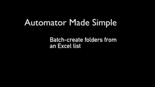 Batch-create folders from an Excel list - 'Mac Automation Made