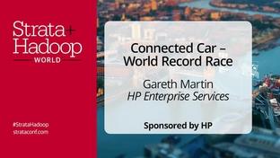 connected car world record race gareth martin hp enterprise