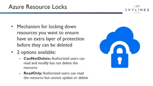 Lecture: Resource Locks - Microsoft AZ-103 Azure