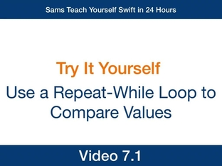 Use a Repeat-While Loop to Compare Values - Swift Video How