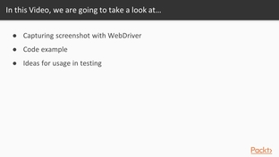 Capturing Screenshots - Automating Web Testing with Selenium