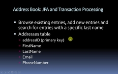 address book using jpa and transactions to modify a database