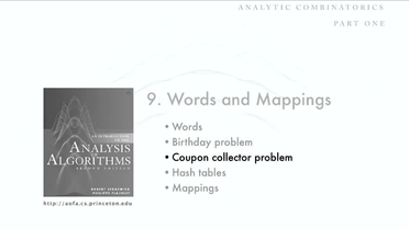 Coupon Collector Problem Analysis Of Algorithms Video