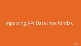 Importing API Data into Pandas - Jupyter Notebook for Data
