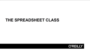 video thumbnail for the spreadsheet class