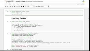 Learning Curves For Analyzing Model Complexity - Advanced Machine