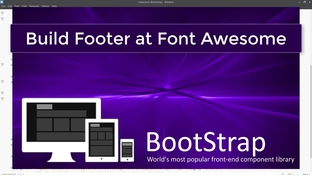 Build Footer at Font Awesome - Bootstrap 4 for Beginners