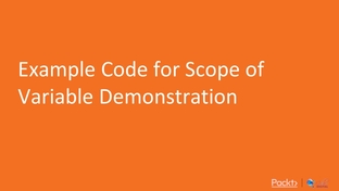 Example Code for a Scope of Variable Demonstration - Begin