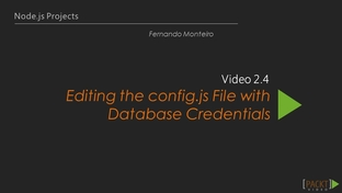 Editing the config js File with Database Credentials - Learning Path