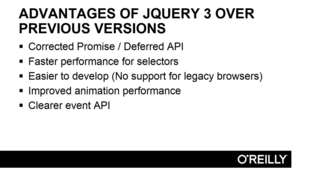 Advantages Of JQuery 2 Over JQuery 3 - Advancing from jQuery