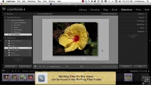 Creating Slideshow Templates - Adobe Photoshop Lightroom 4 [Video]