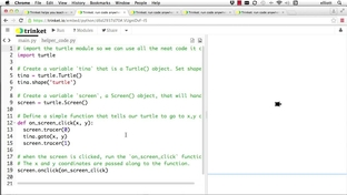 Turtle Click, Release And Drag Events - Python Game Development for
