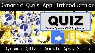 Dynamic Quiz App Introduction - A Dynamic Quiz App using