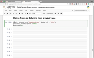 Delete Rows or Columns from a DataFrame - Data Analysis with Pandas