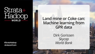 Land mine or Coke can: Machine learning from GPR data - Dirk