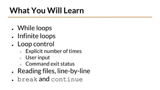While Loops, Part I - Bash Scripting and Shell Programming