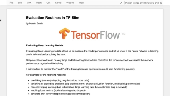 Evaluation Routines In TensorflowSlim Part    Training