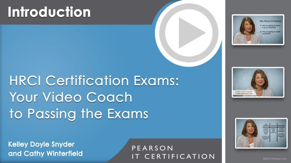 Hrci Certification Exams Your Video Coach To Preparing And Passing