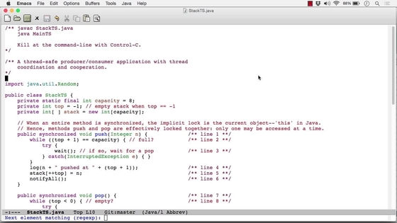 The Thread-Safe Stack Example In Java - Concurrent and Parallel ...