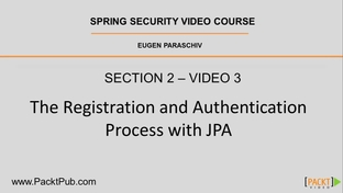 The Registration and Authentication Process with JPA