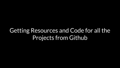 Downloading Code and Resources for the Course from GitHub