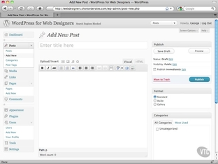 Visual/HTML Editor - WordPress 3 1 for Designers [Video]