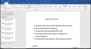Setting up IOS App and Appium Desktop on MAC - Appium