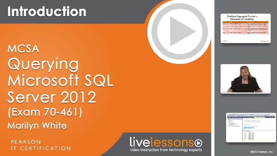 Mcsa Querying Microsoft Sql Server 2012 Exam 70 461 Required