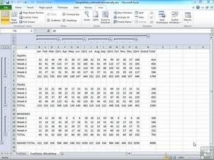 Creating A Custom View Of A Worksheet - Advanced Microsoft