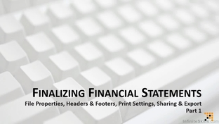 finalizing financial statements part 1 microsoft excel for